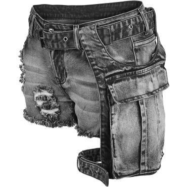 Girls broek van Rock Rebel by EMP:  - met afneembare heuptas - met beschadigde effecten - vintage - met vijf zakken