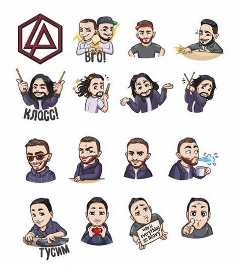 Друзья!!! Псссс специально для фанатов #linkinpark Новые стикеры!! Скорей загружайте))) Первые 12 стикеров будут доступны всем желающим: после их загрузки чат-бот от лица официального сообщества Linkin Park предложит добавить в персональную аудиоколлекцию новый альбом группы и получить полный стикер-пак
