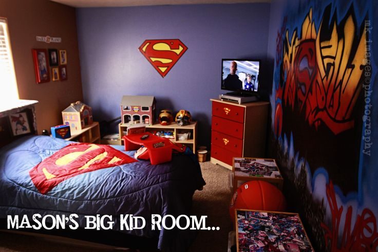 17 best images about superman room on pinterest wall art decor boy rooms and superhero signs - Superman room decorating ideas ...