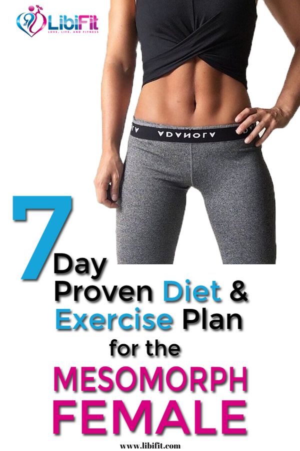 7-Day Proven Diet and Exercise Plan for the Mesomorph Female