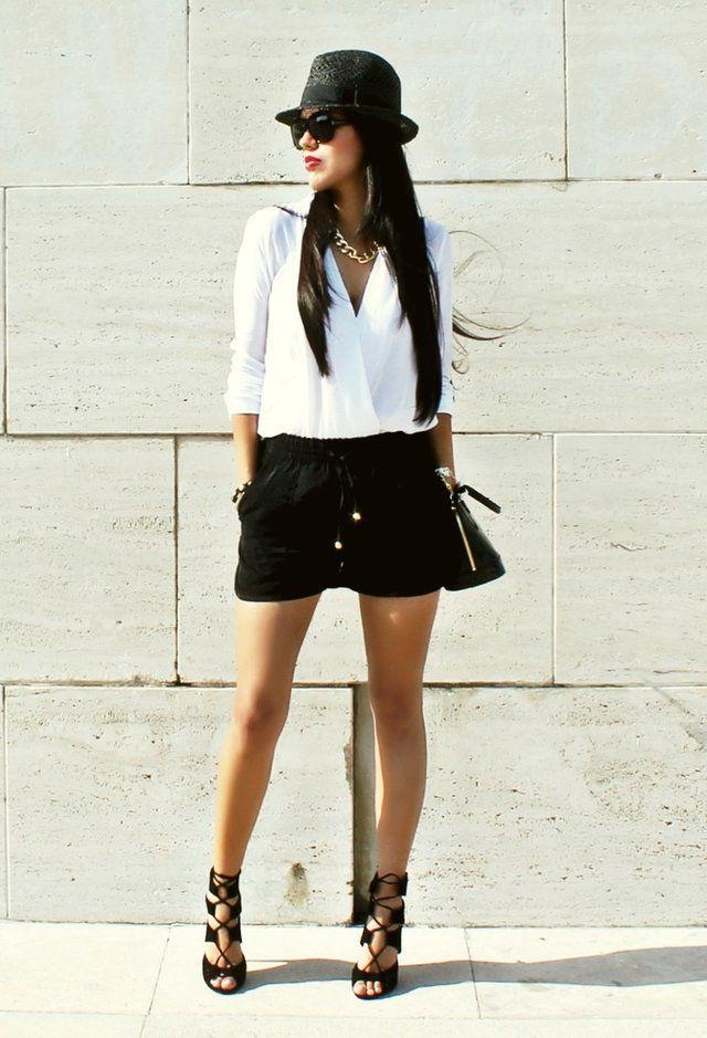 Best 25  Black shorts fashion ideas on Pinterest | Military green ...