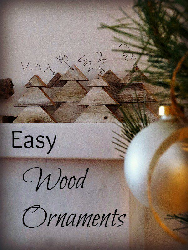 Easy Wood Ornaments