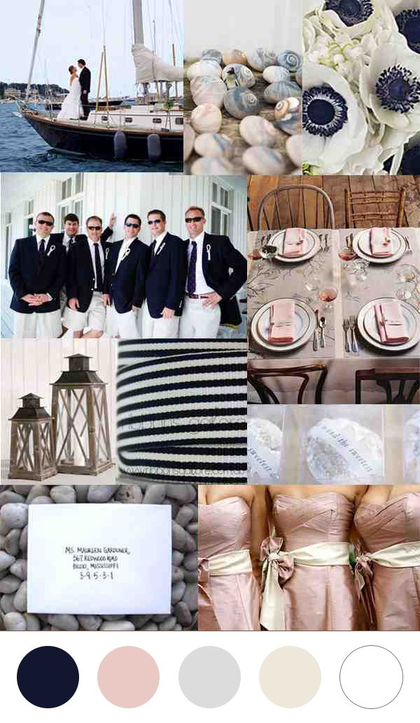 Modern Nautical Wedding Color Palettes.                                                                                                                                                     More