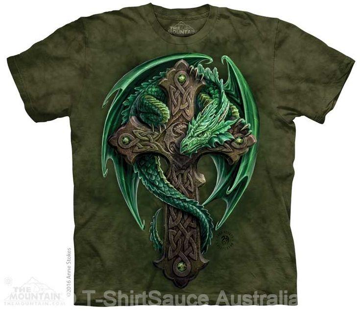 Woodland Guardian Dragon Adults T-Shirt : The Mountain - 2017 Collection : T-Shirtsauce Australia: The Mountain T-Shirts