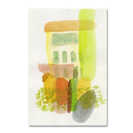 Trademark Fine Art 'Garden of Yellow' Canvas Art by Fernanda Franco, Multicolor