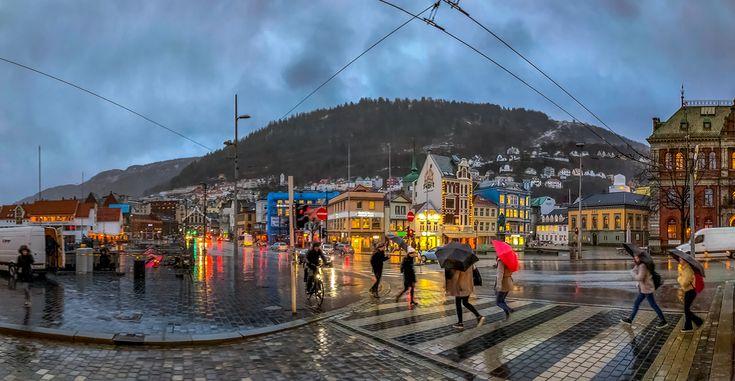 Rainy day in Bergen v2 - null