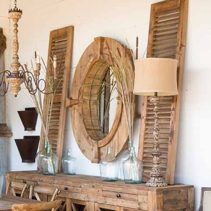 Park Hill Collection Pair of Reclaimed Wood Shutters - SDF1112