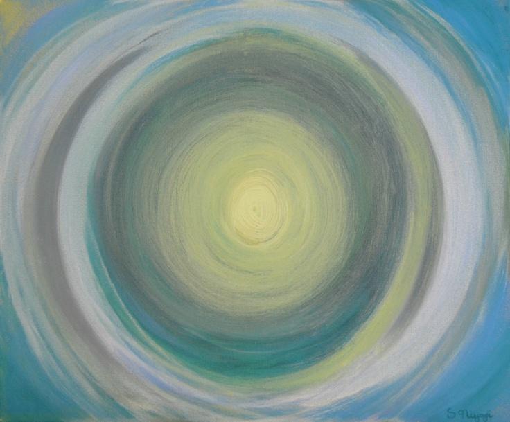 "Saatchi Online Artist: Sara Niyazi; Acrylic, 2013, Painting ""Brighter Days"" abstract bright color art"