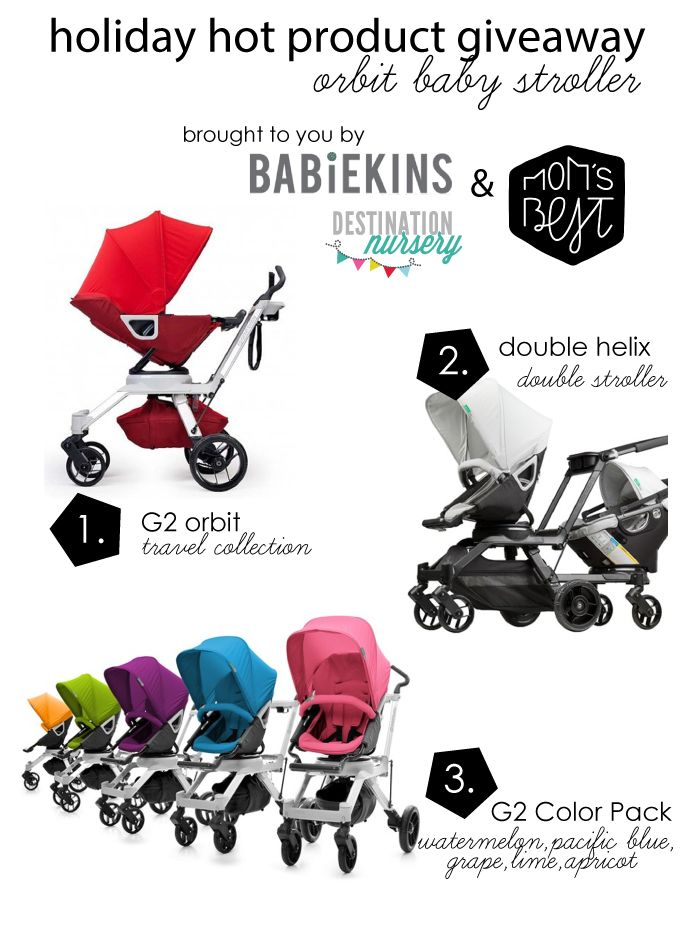 Holiday Hot product Giveaway…featuring @Orbit Baby  Baby stroller w/@Babiekins Magazine and @destnnursery