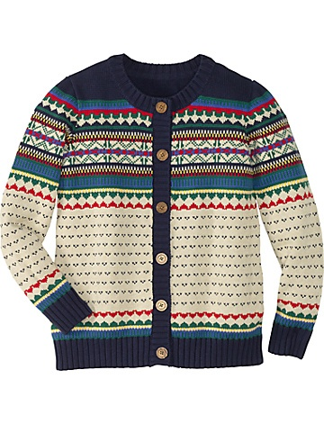 Forest Fair Isle Cardigan  from #HannaAndersson.