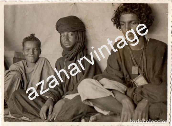 Fotografía antigua: ANTIGUA FOTOGRAFIA DE SIDI IFNI, NOMADAS DE TARFAIA,115X85MM - Foto 1 - 78311989