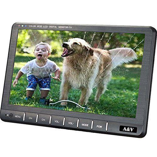 A&V Téléviseur Portable 9″(22.8cm) TNT HD DVBT/DVB-T2 (MPEG4 H.264/H.265)- Enregistreur TV/TV Analogique / Lecteur Multimédia/PVR/EPG-…
