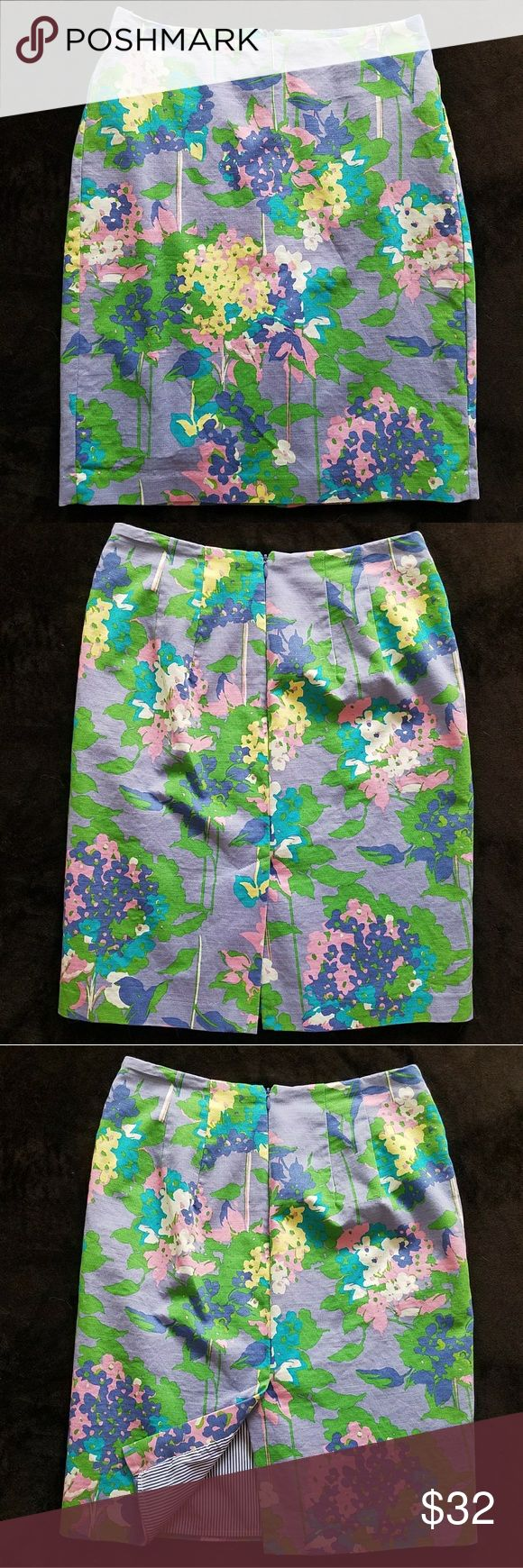 """Tommy Hilfiger Floral Pencil Skirt With spring just around the corner, this Tommy Hilfiger Floral Pencil Skirt is perfect! Like New condition. Fully lined with a pretty stripe lining.  Approximate measurements while laying flat-  Width: 18""""  Length: 20.5/21"""" Tommy Hilfiger Skirts Pencil"""