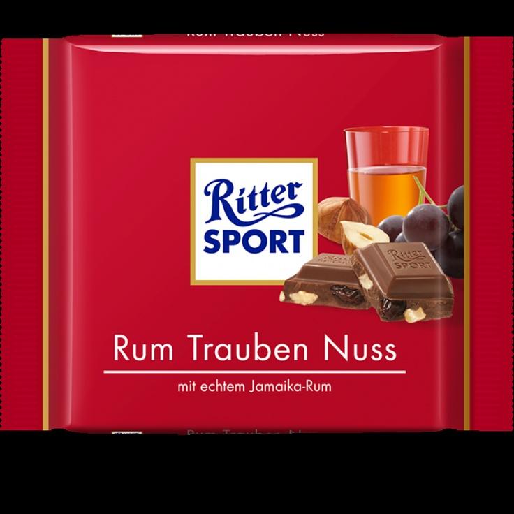 RITTER SPORT Rum Trauben Nuss Schokolade