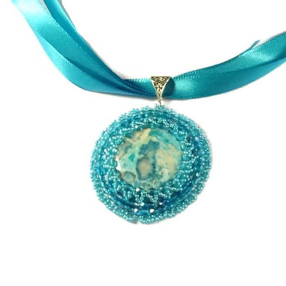 """Blue Water Pendant form the """"Thesaurus Collection"""" - MemetJewelry"""