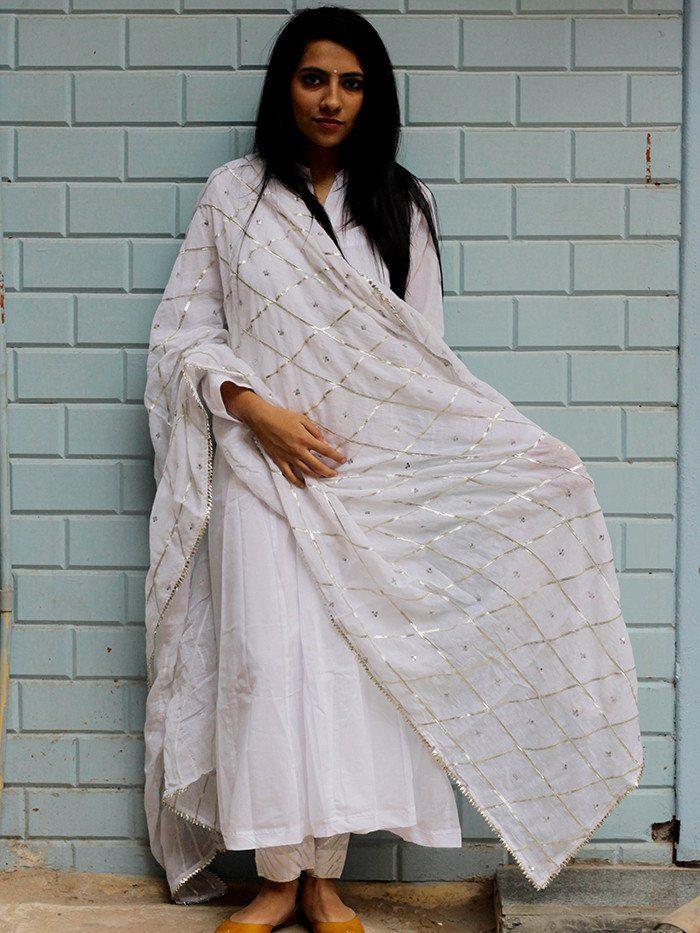 White Sitara Dupatta