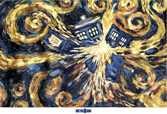 Van Gogh Exploding Tardis. I have loved the stars too fondly to be fearful of the night. -Van Gogh