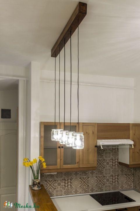 Rusztikus befőttesüveges mennyezeti lámpa (attilakucsera) - Meska.hu