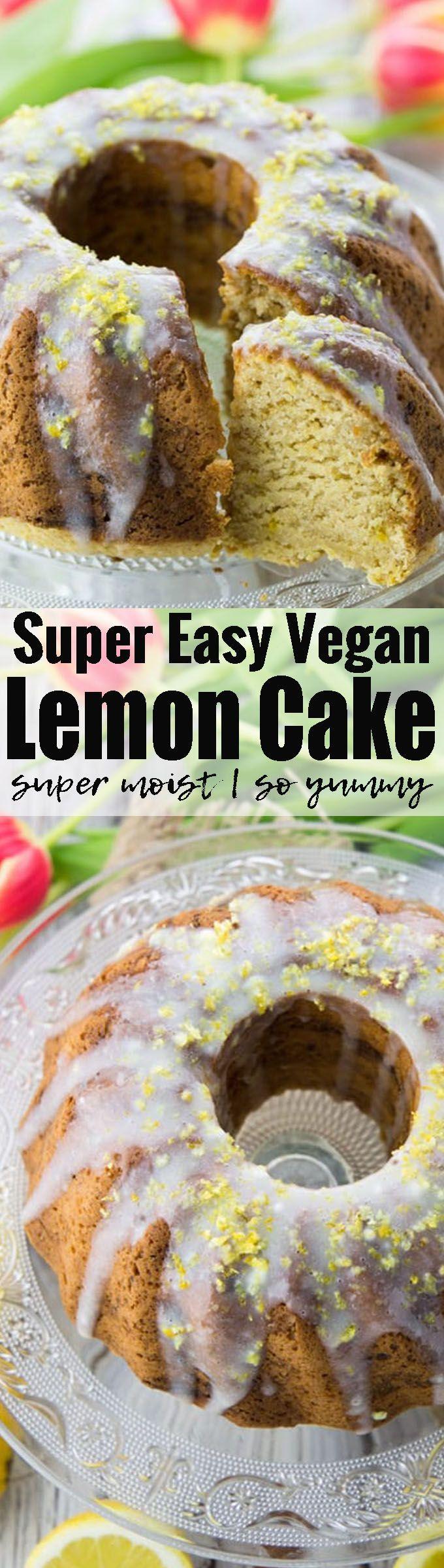 This vegan lemon cake is so moist and incredibly easy to make! Vegan baking can be so easy! Find more vegan cakes and vegan desserts at veganheaven.org!