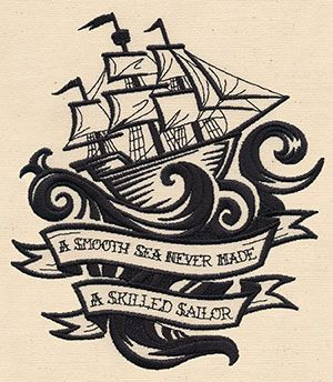 Skilled Sailor | Urban Threads: Unique and Awesome Embroidery Designs
