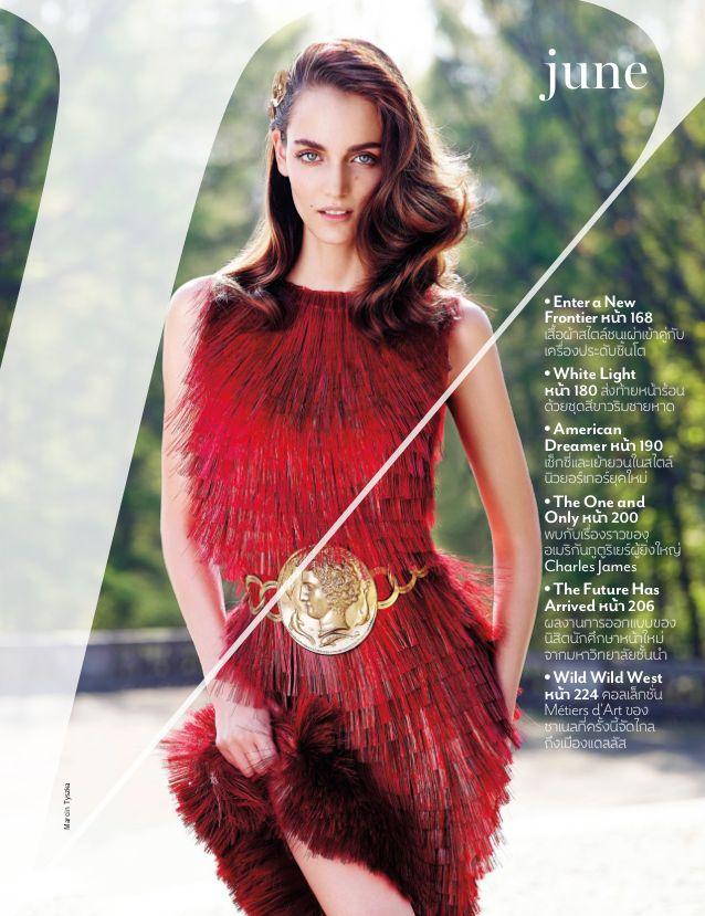 Enter A New Frontier: #ZuzannaBijoch by #MarcinTyszka for #VogueThailand June 2014