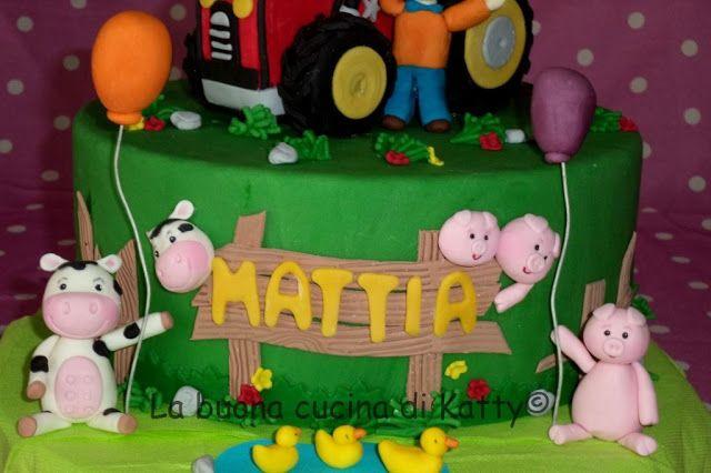 Katty's cakes - Le torte di Katty : Torta trattore nella fattoria - Cake tractor on the farm