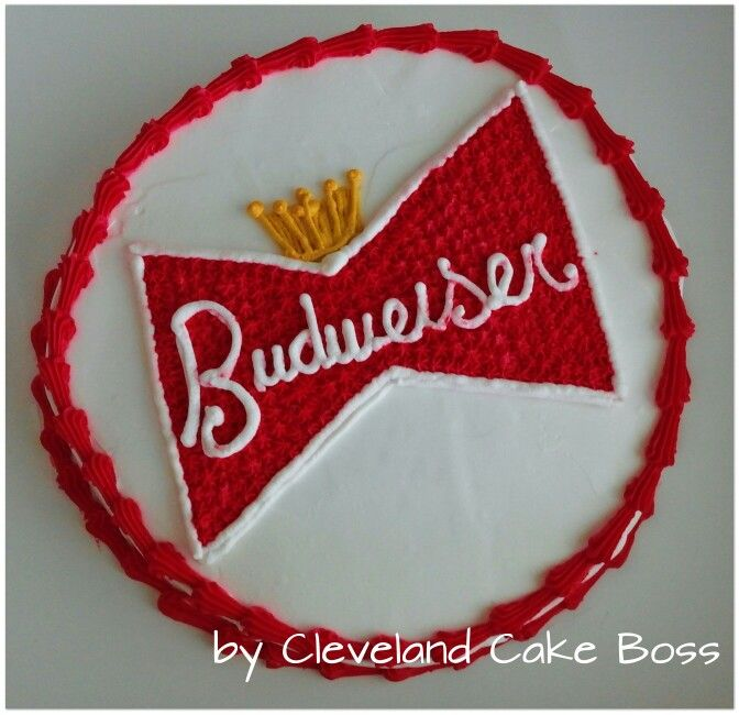 Budweiser cake by Cleveland Cake Boss
