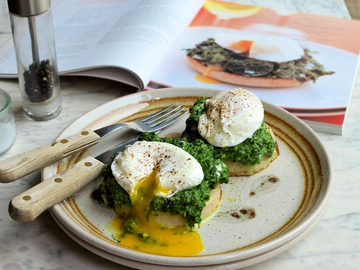 FLORENTINE WITH SPINACH + GOAT CHEESE