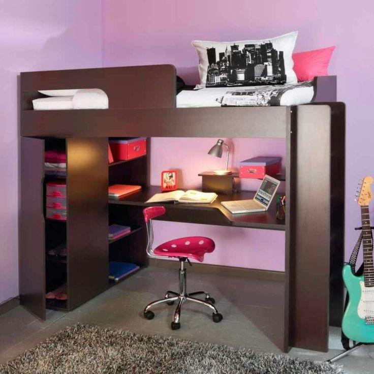17 best images about cuarto on pinterest - Cama con escritorio abajo ...
