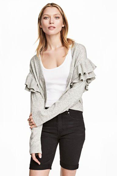Długie szorty dżinsowe - Prawie czarny - ONA | H&M PL 1