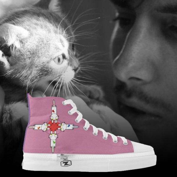 Zapatillas, Shoes. Custom Zipz. Gato, cat, kitten. Love. Producto disponible en tienda Zazzle. Calzado, moda. Product available in Zazzle store. Footwear, fashion. Regalos, Gifts. Link to product: http://www.zazzle.com/zapatillas-256030505708490484?lang=es&CMPN=shareicon&social=true&rf=238167879144476949 #zapatillas #shoes #cat #gato #kitten #love
