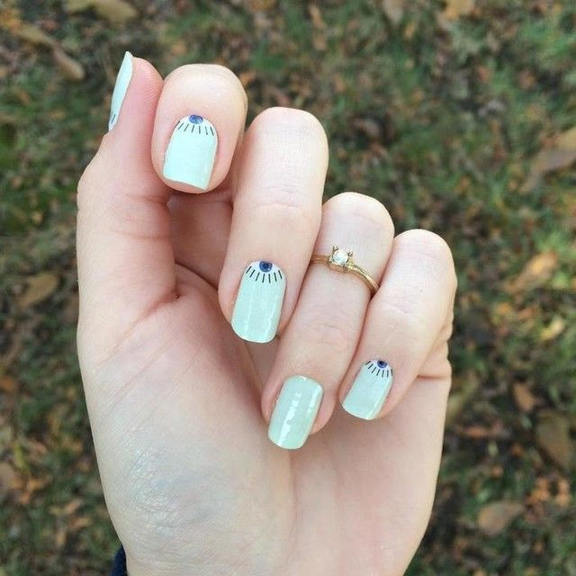 Brand New Skinnies--this is Bright Eyes; no heat needed, fast manicure for weekend or on the go looks. #nailart #shopping #nail #nails #nailsalons #naildesign #naildesigns #nailproducts #nailproductsupplier  #beautytrends #pamperyourself
