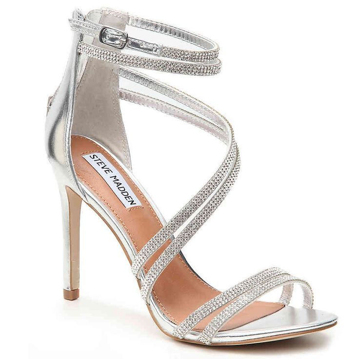 Silver shoes heels, Silver heels, Prom