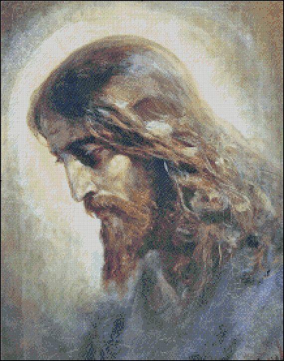 JESUS CHRIST cross stitch pattern No.450