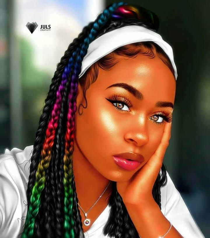 Curly Craze Crazy Hairstyles For African Americans Black Girl Art Black Girl Cartoon Drawings Of Black Girls