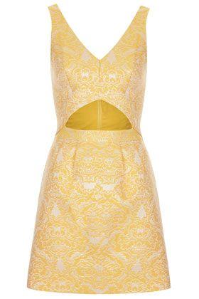 Brocade Cutout Dress