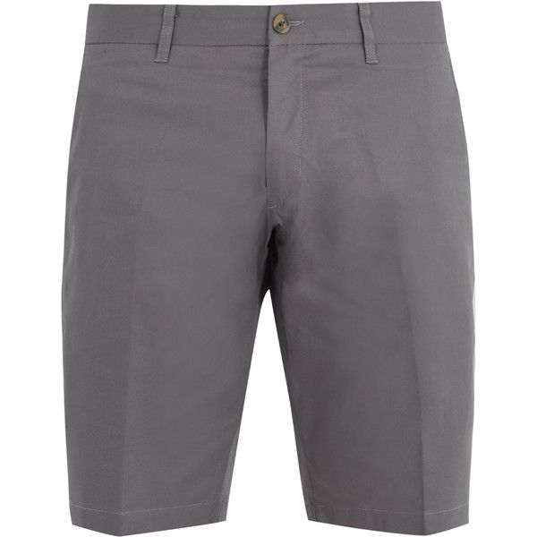 J.W. Brine Free Donnie stretch-cotton chino shorts ($126) ❤ liked on Polyvore featuring men's fashion, men's clothing, men's shorts, uniform, grey, mens gray shorts, mens chino shorts, mens summer shorts, mens grey chino shorts and mens lightweight cargo shorts