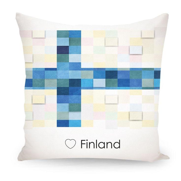 Pillow Finland flag, Europe