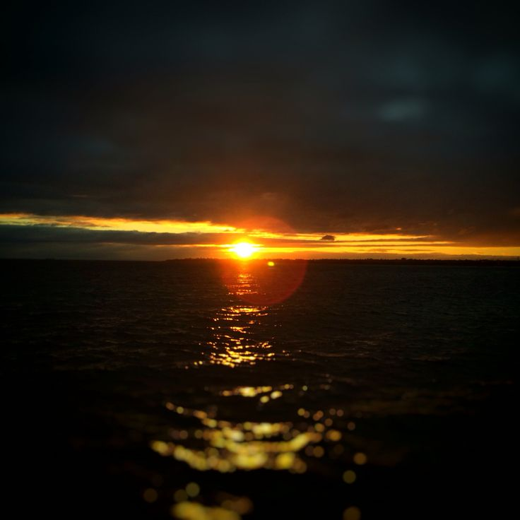 Winter sunset from Mordialloc Pier