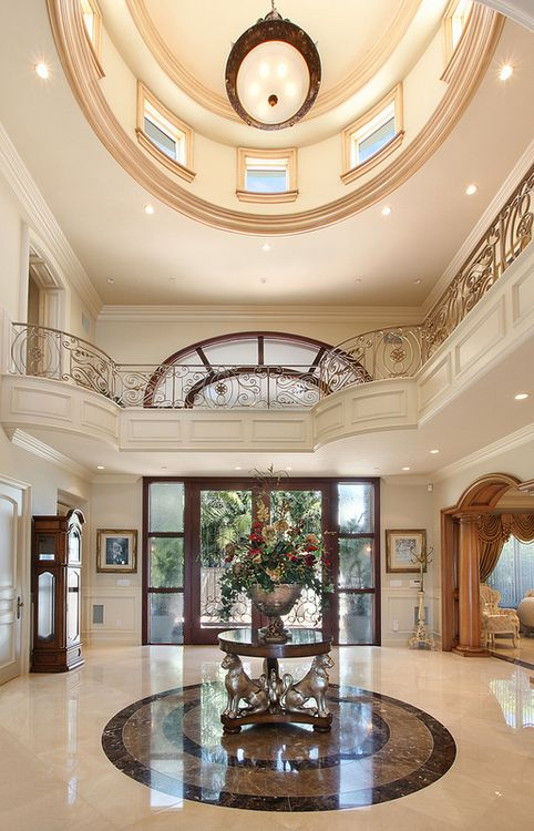 146 best new classic lobby interior design images on for Mansion foyer designs