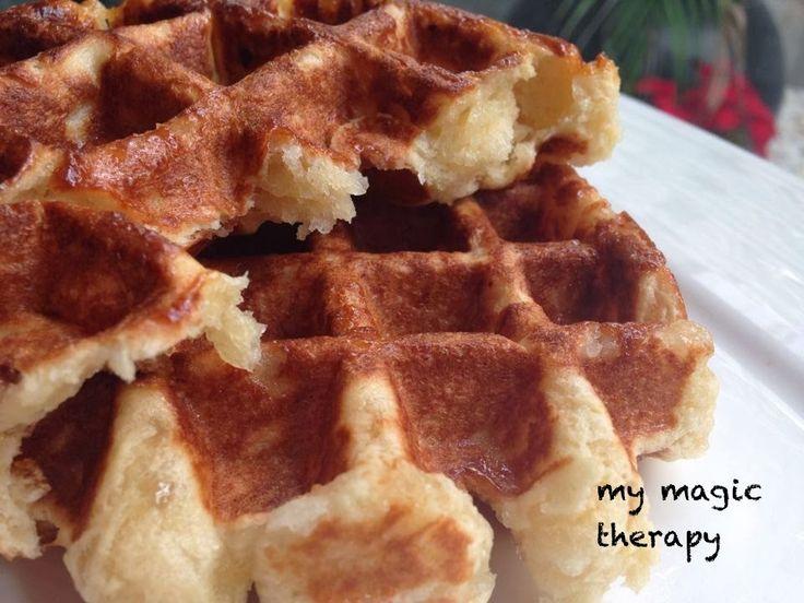 Minha terapia MAGIC: a melhor receita waffles belgas !!!!!!!!!