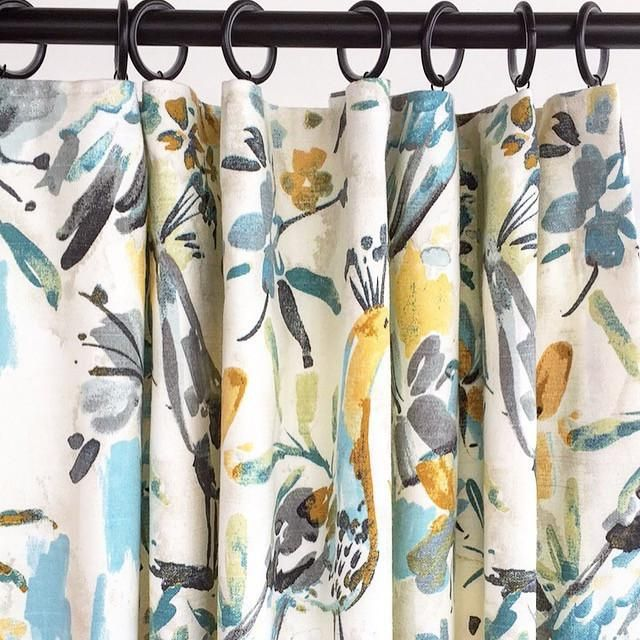 A Watery Painted Bird Fabric In Fresh Colours Of Turquoise Aqua
