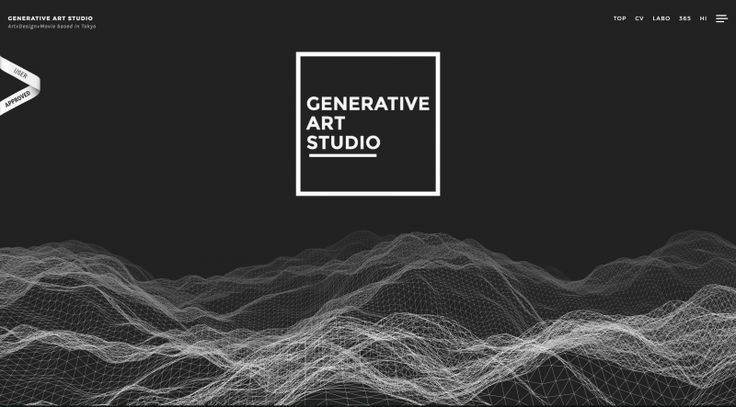 #DOTD GENERATIVE ART STUDIO by GENERATIVE ART STUDIO #Japan #Website