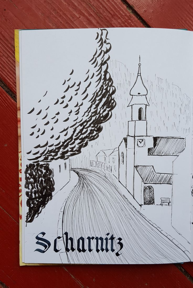 #sketching #village Scharnitz