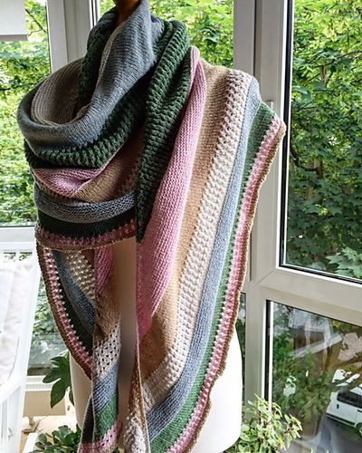 One Love Shawl By Susan B. Anderson - Purchased Knitting Pattern - (ravelry)