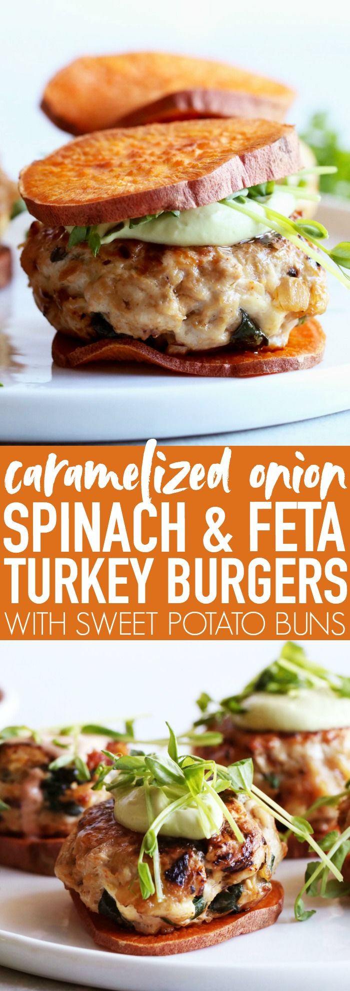 Caramelized Onion Spinach + Feta Turkey Burgers | gluten free | recipes | recipe | tailgate | game day | super bowl | low carb | healthy | fresh | clean eating | healthyish | low ingredient | easy | the easiest | quick | simple | make ahead | meat | | lovers |