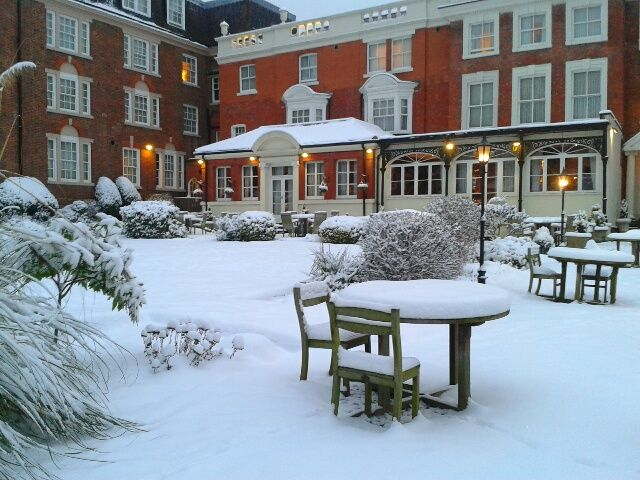 * Winter time at Hendon Hall *