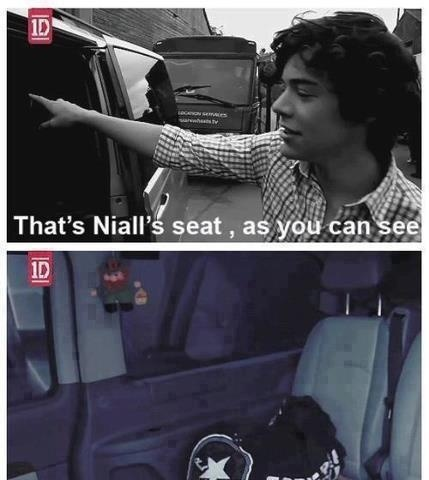 one direction funny niall's seat