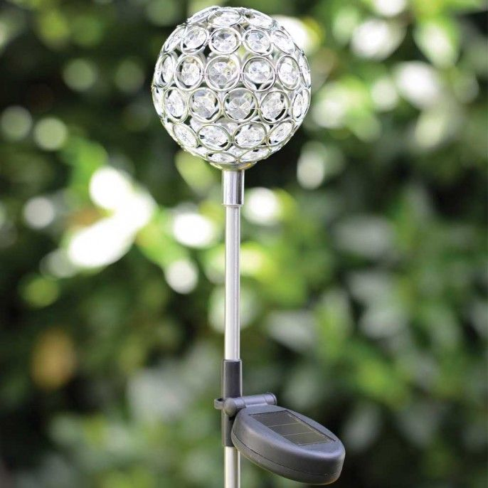 GLITTER GEM SOLAR LIGHTS BALL - Solar Lights - Garden & Outdoor | Poundstretcher