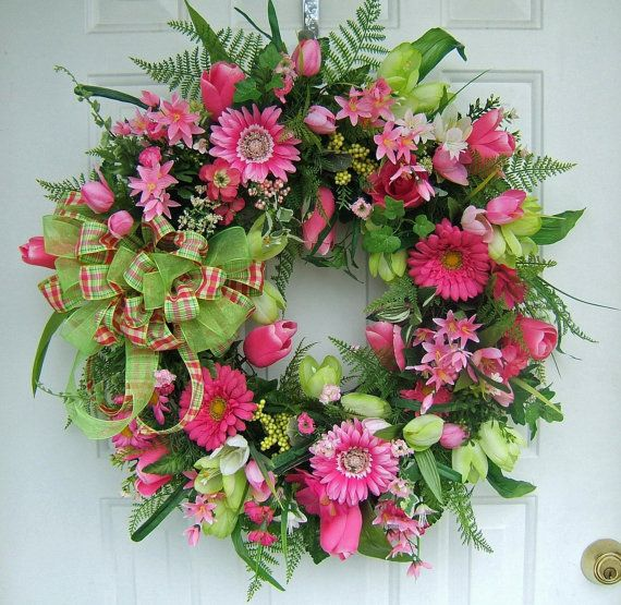 17 best images about lilies and silk on pinterest oscar Spring flower arrangements for front door